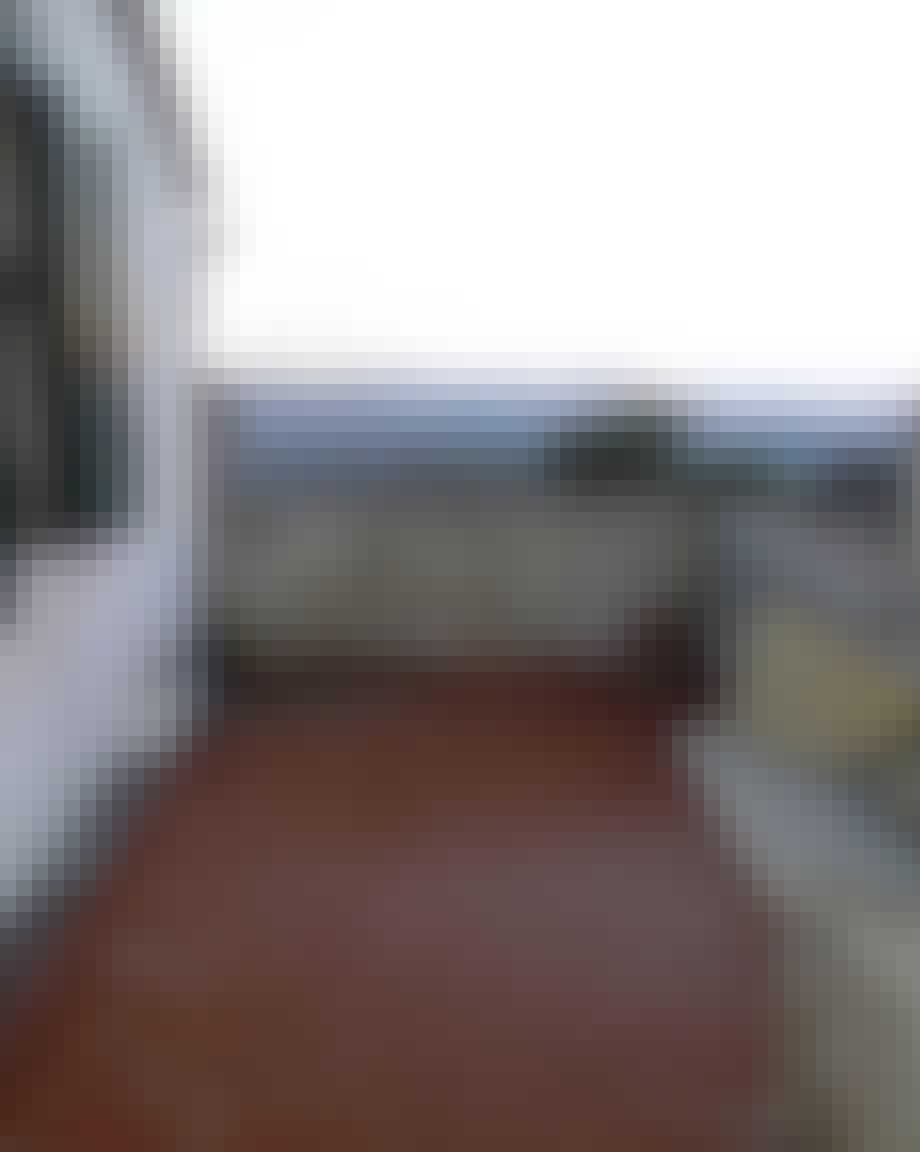 Kjøkkenterrasse før oppussing.