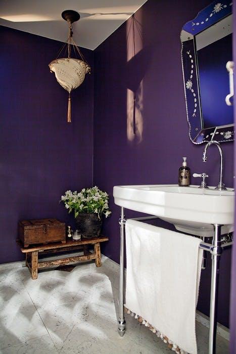 Eksotisk farge på badet