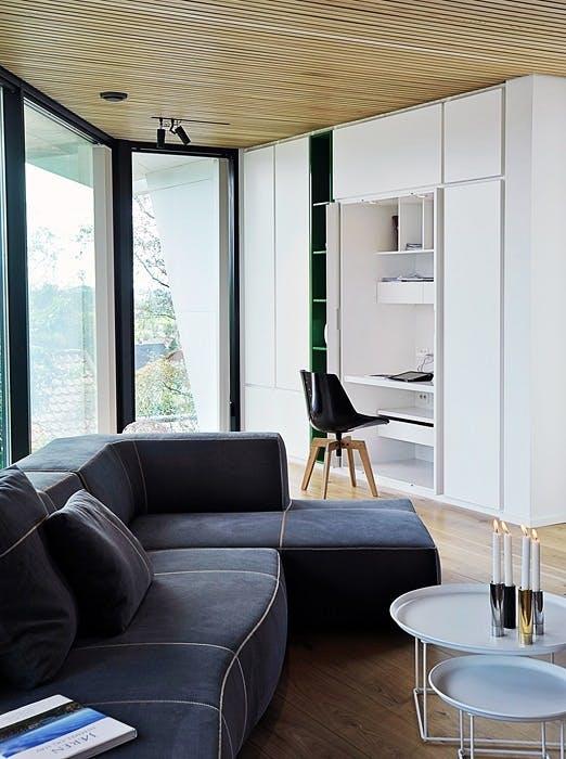 Usynlig hjemmekontor i stuen