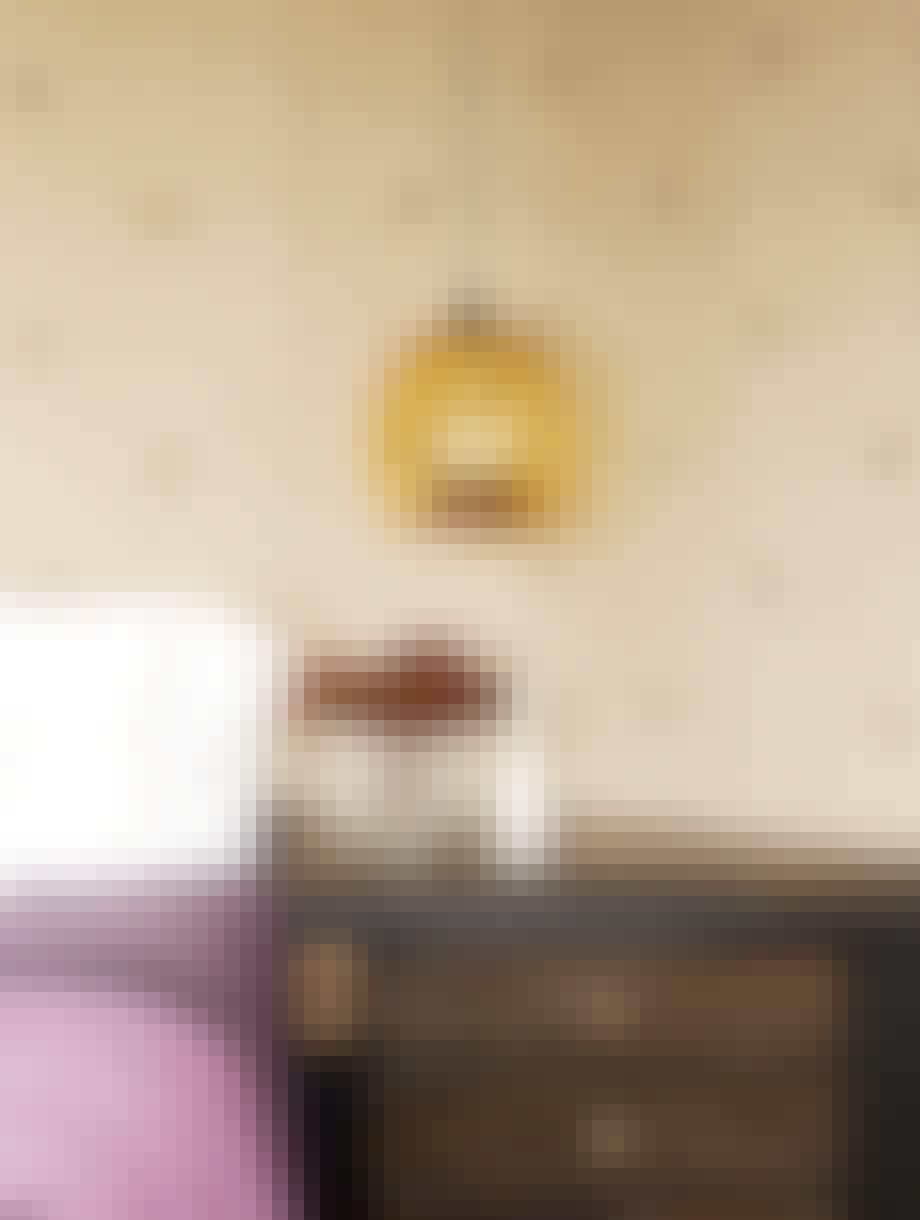 Håndblås glasslampe