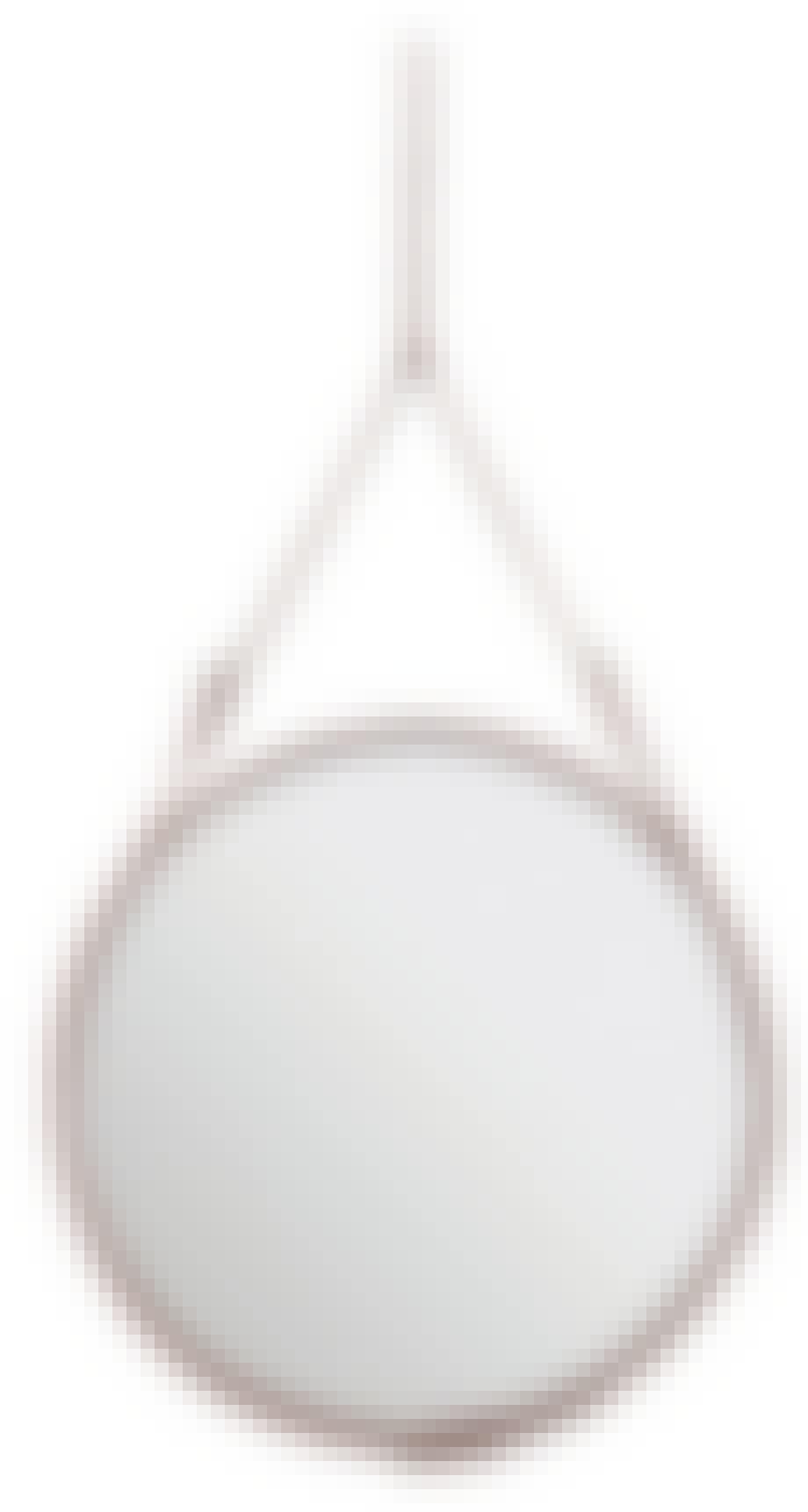 Speil i lærramme