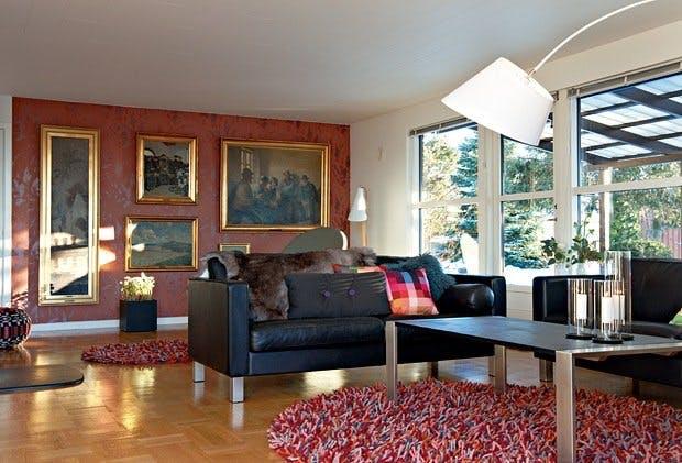 Ny stue med blikkfang