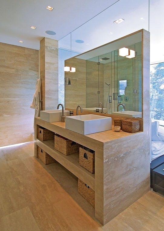 Marmor på badet