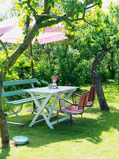 Spiseplass i hagen