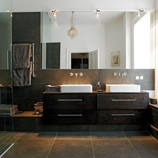 Moderne, men varmt bad