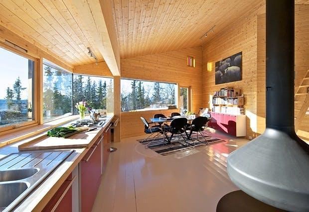Lys hytte