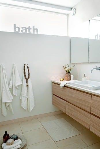Enkelt og moderne bad