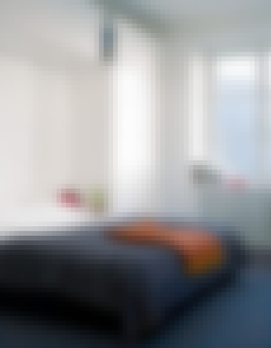 Teppe på soveromsgulvet