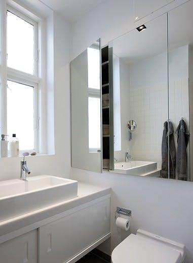Speil som oppbevaring