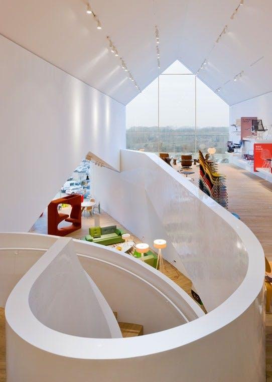 Den buktende organiske trappen