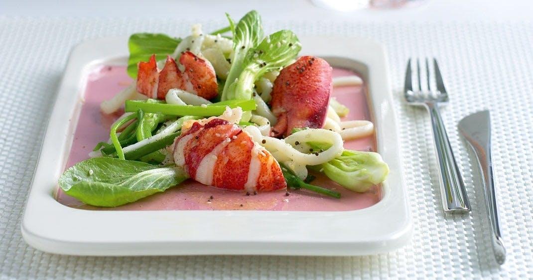 Varm hummersalat