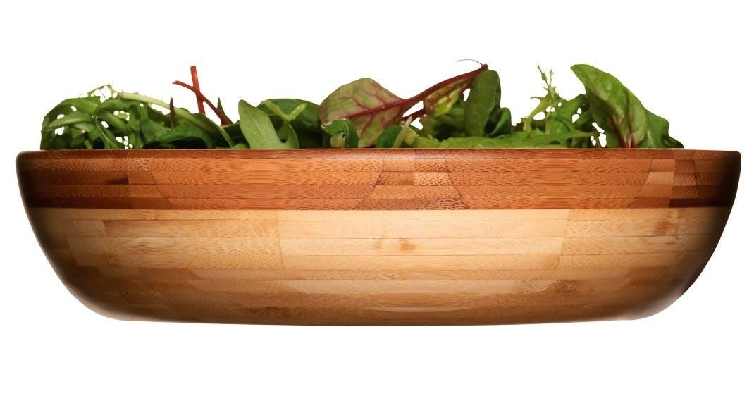 Stor salatbolle i bambus,