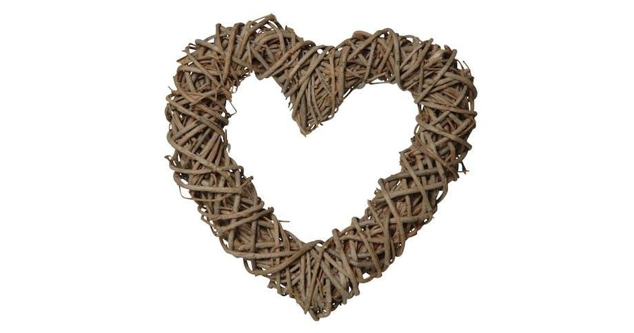 Hjertekrans i naturmateriale