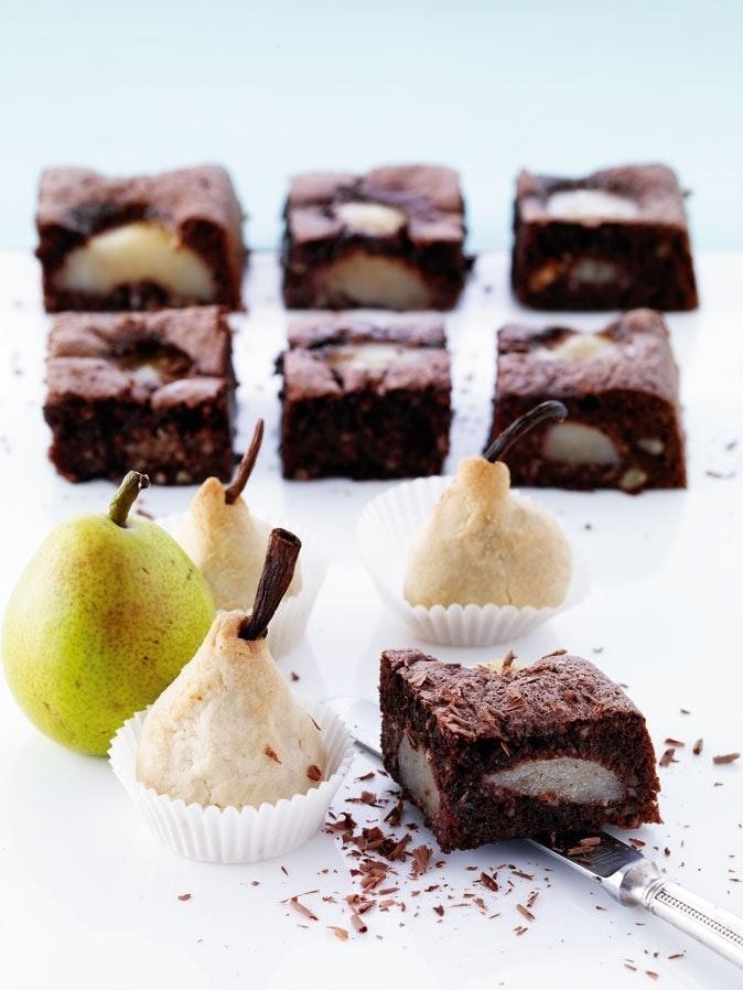 Sjokoladekake med pærer
