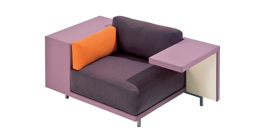 Romslig lenestol med plass