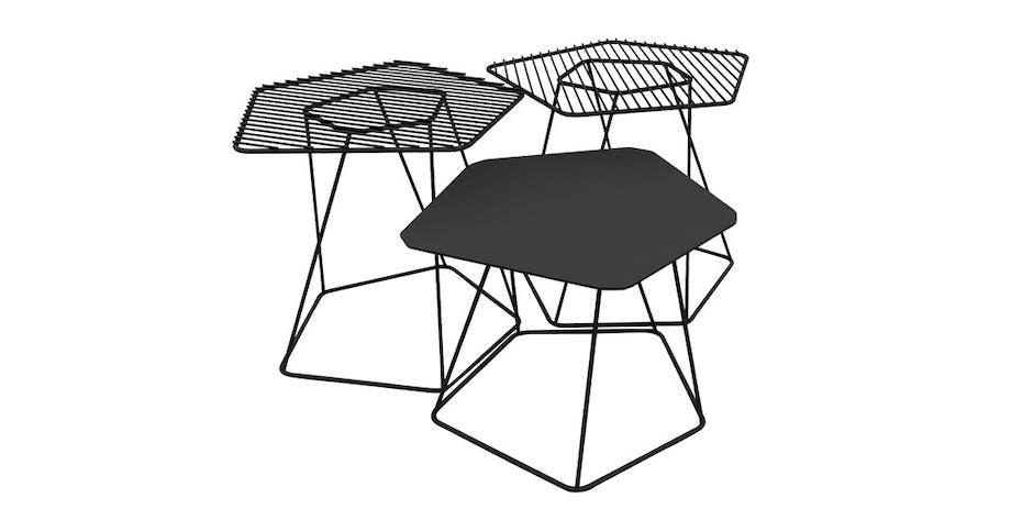 Små bord, flotte i klynger