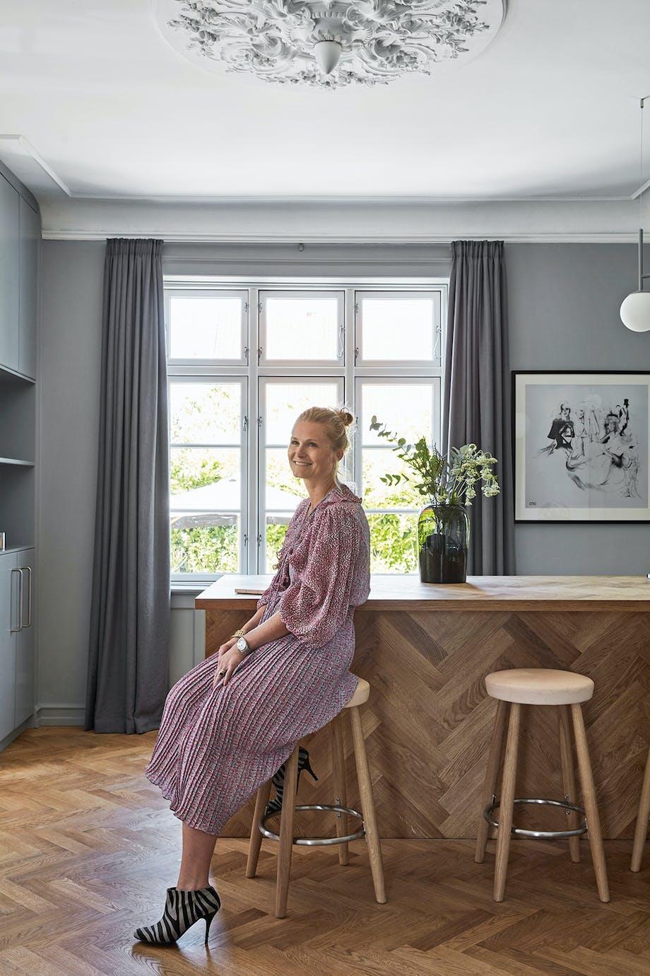 Køkken sildebensmønster nordisk dansk design