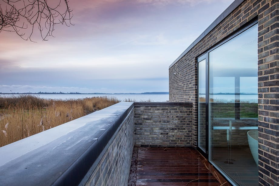 Sommerhus Faaborg Fjord fladt og langt