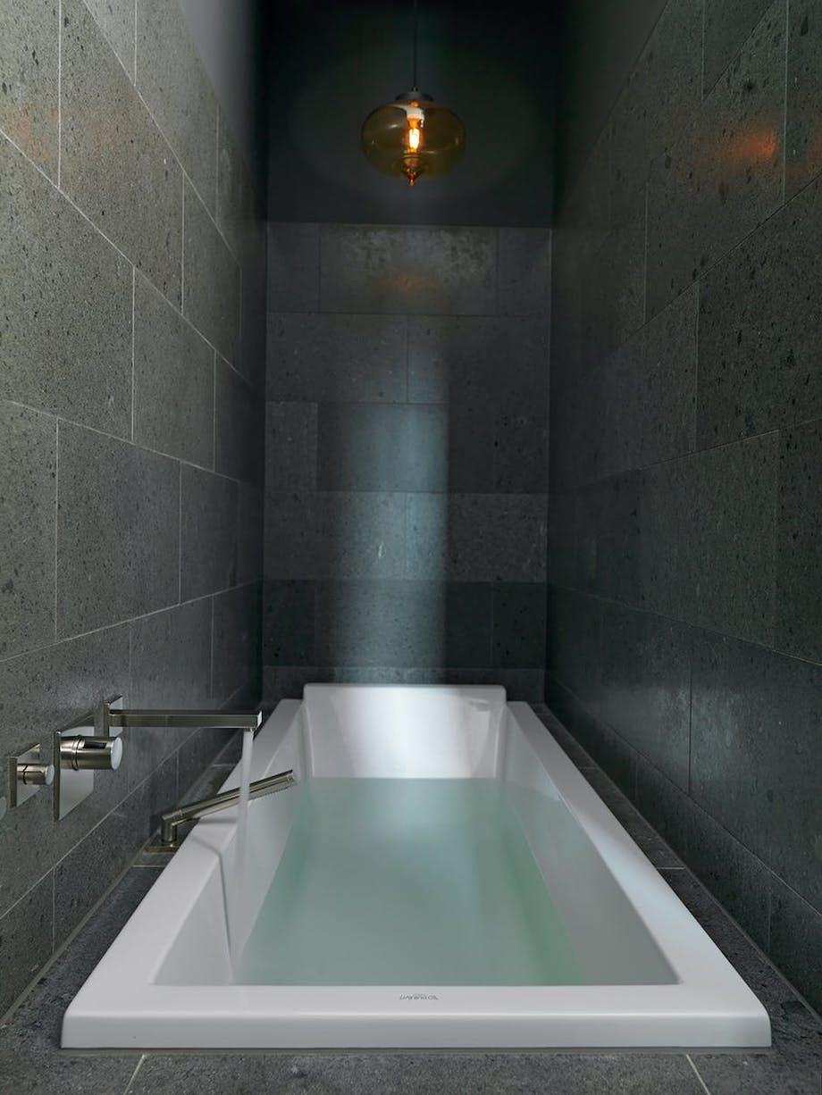 Badekaret er innebygget