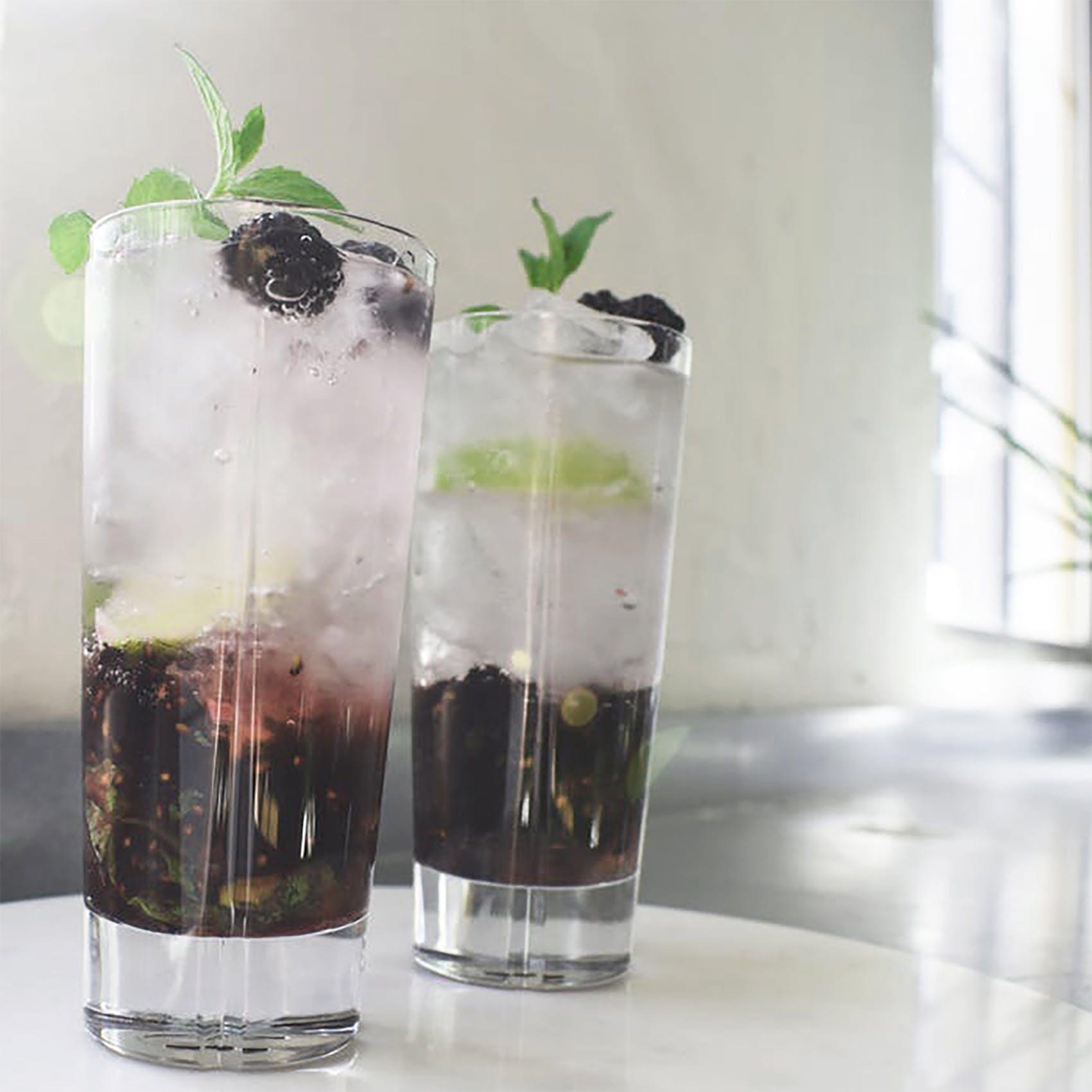 Brombær Mojito Mocktail