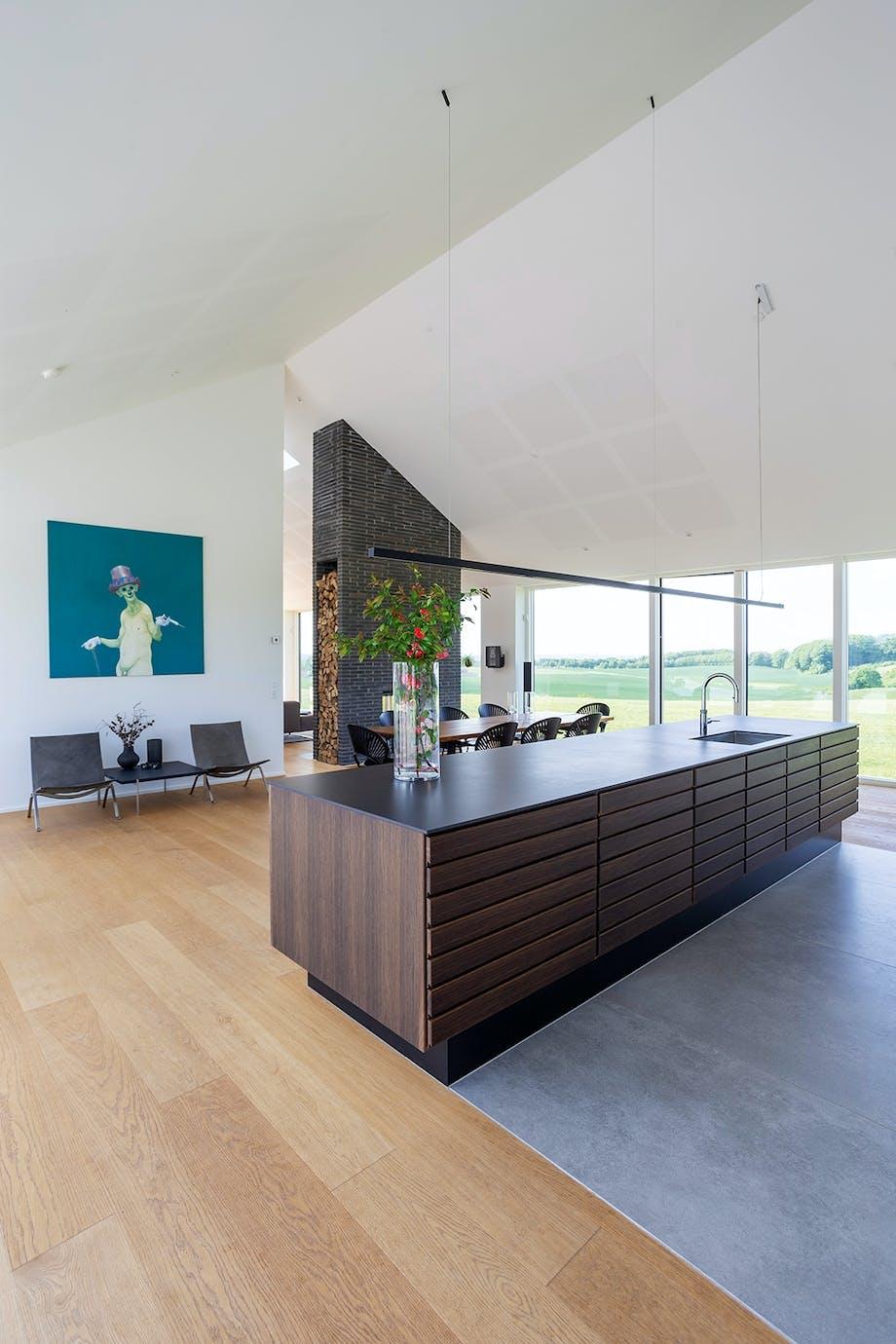 Køkken alrum højt til loftet Poul kjærholm