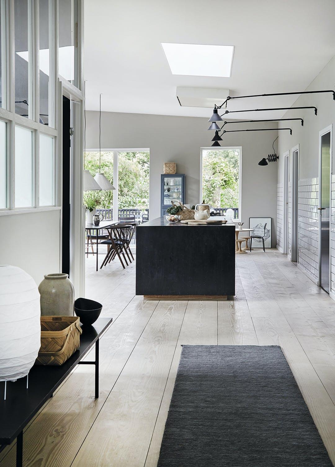 Det åbne køkken hjemme hos Lisbeth Kamstrup-Holm