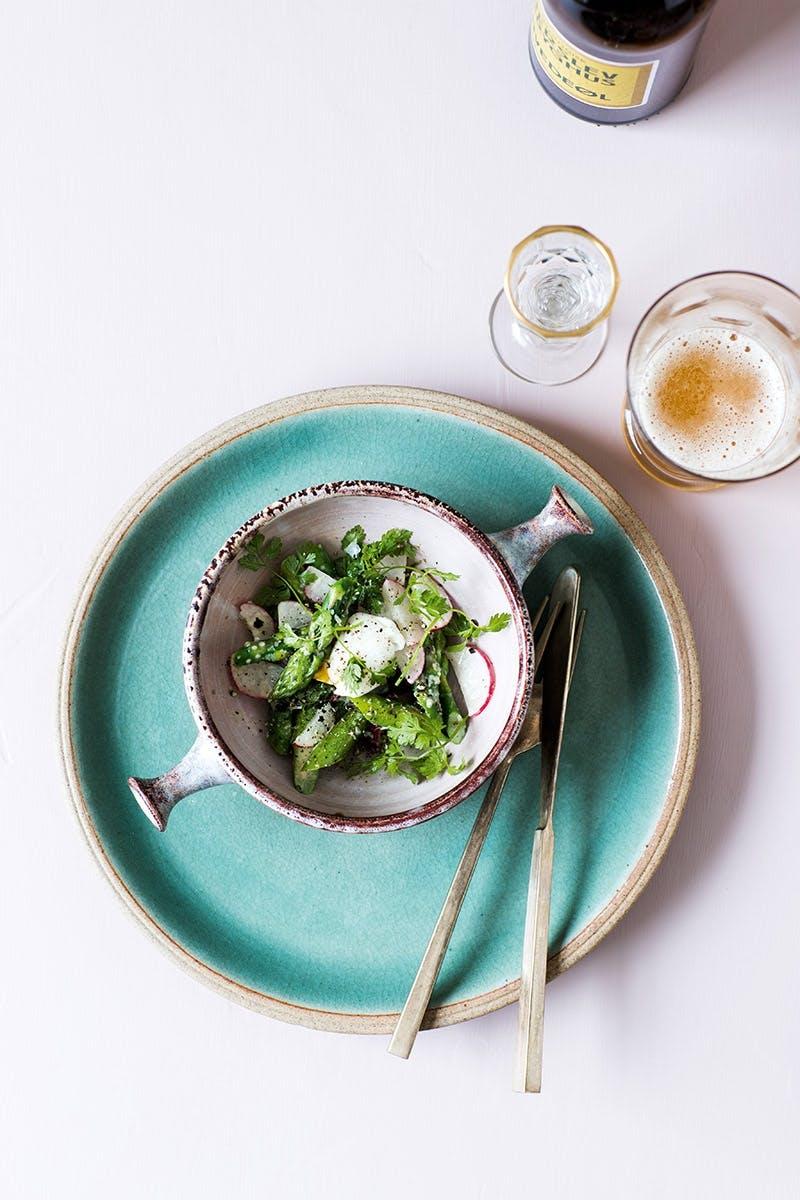 påskefrokost med asparge