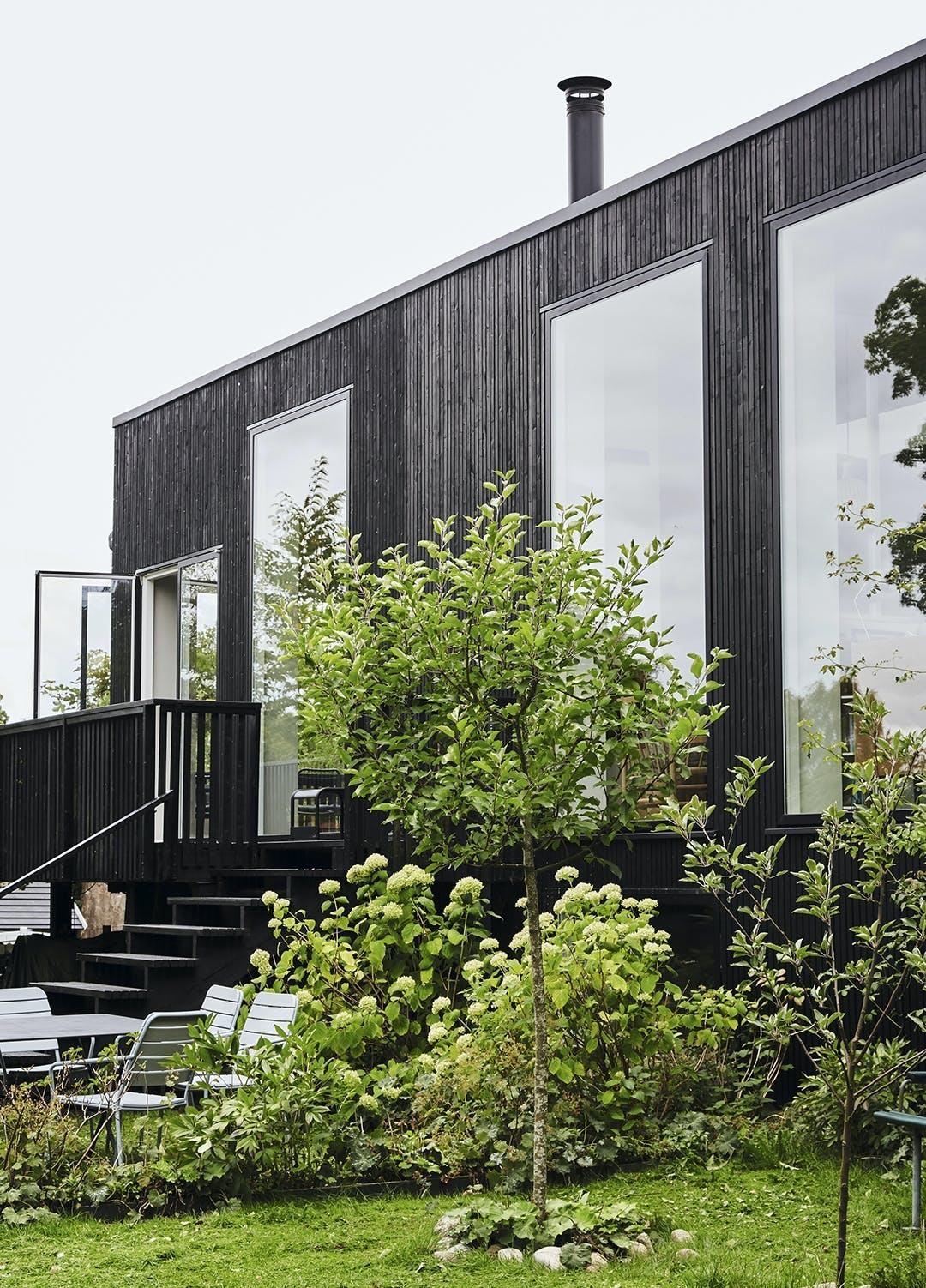 Sort facade, Birkerød, træhus