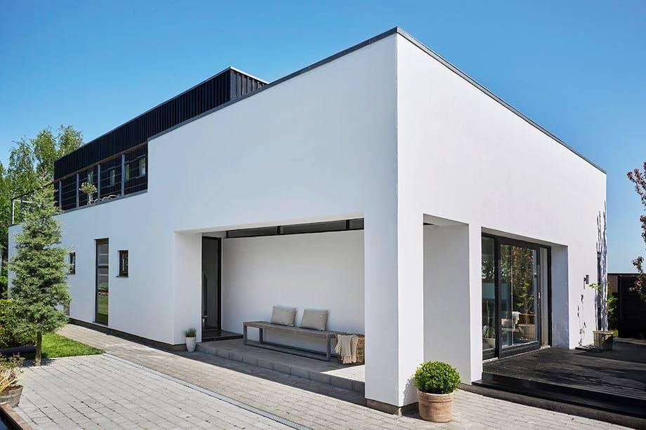 Moderne og minimalistisk funkisvilla unikt