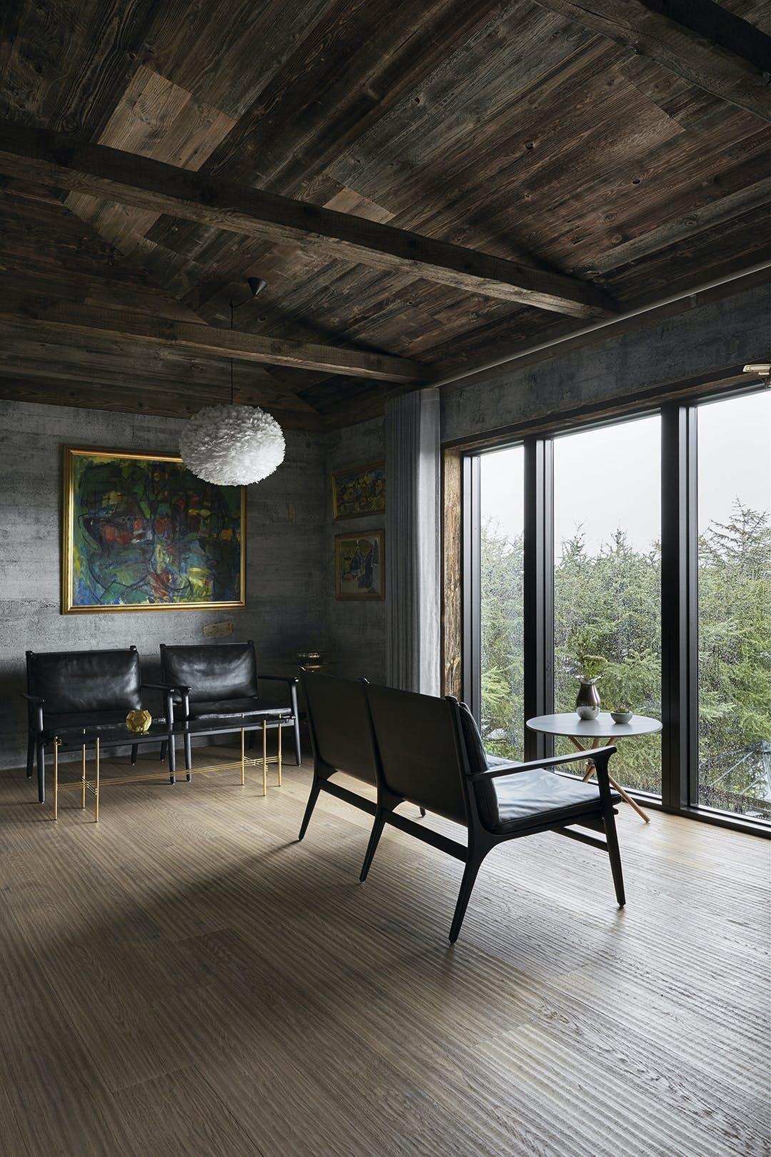 Stue med udsigt over Torshavn