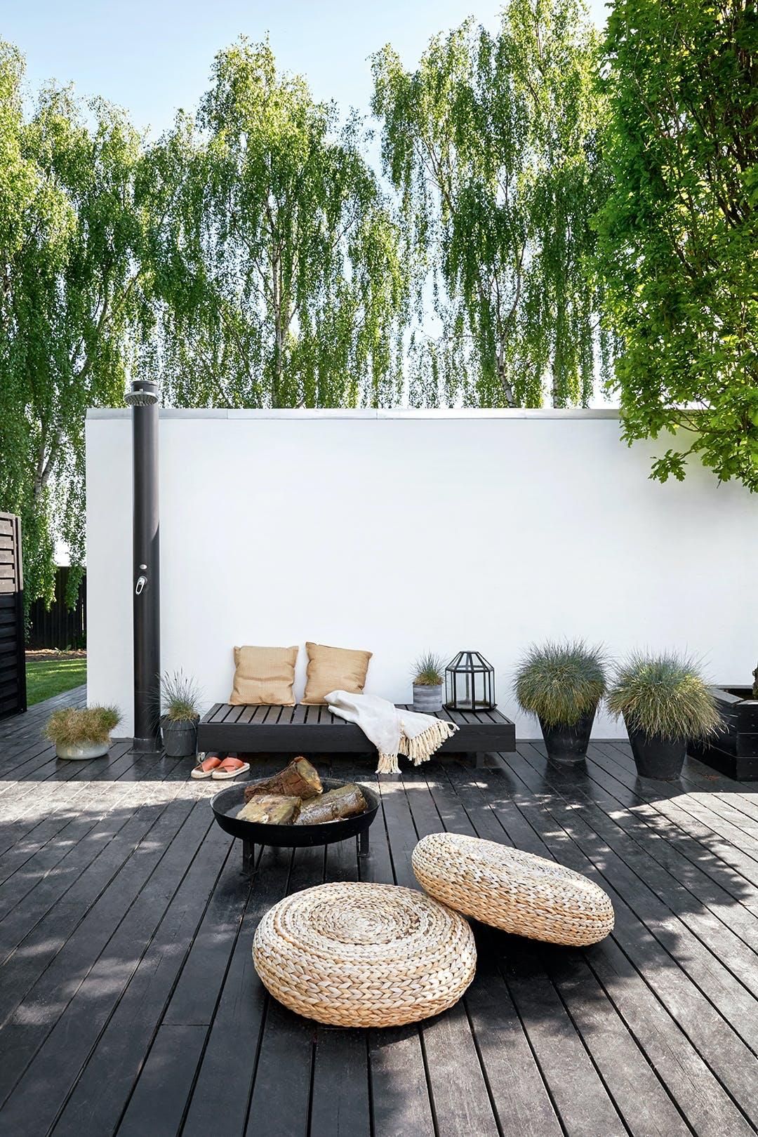 terrasse japansk inspireret stil udendørsbruser