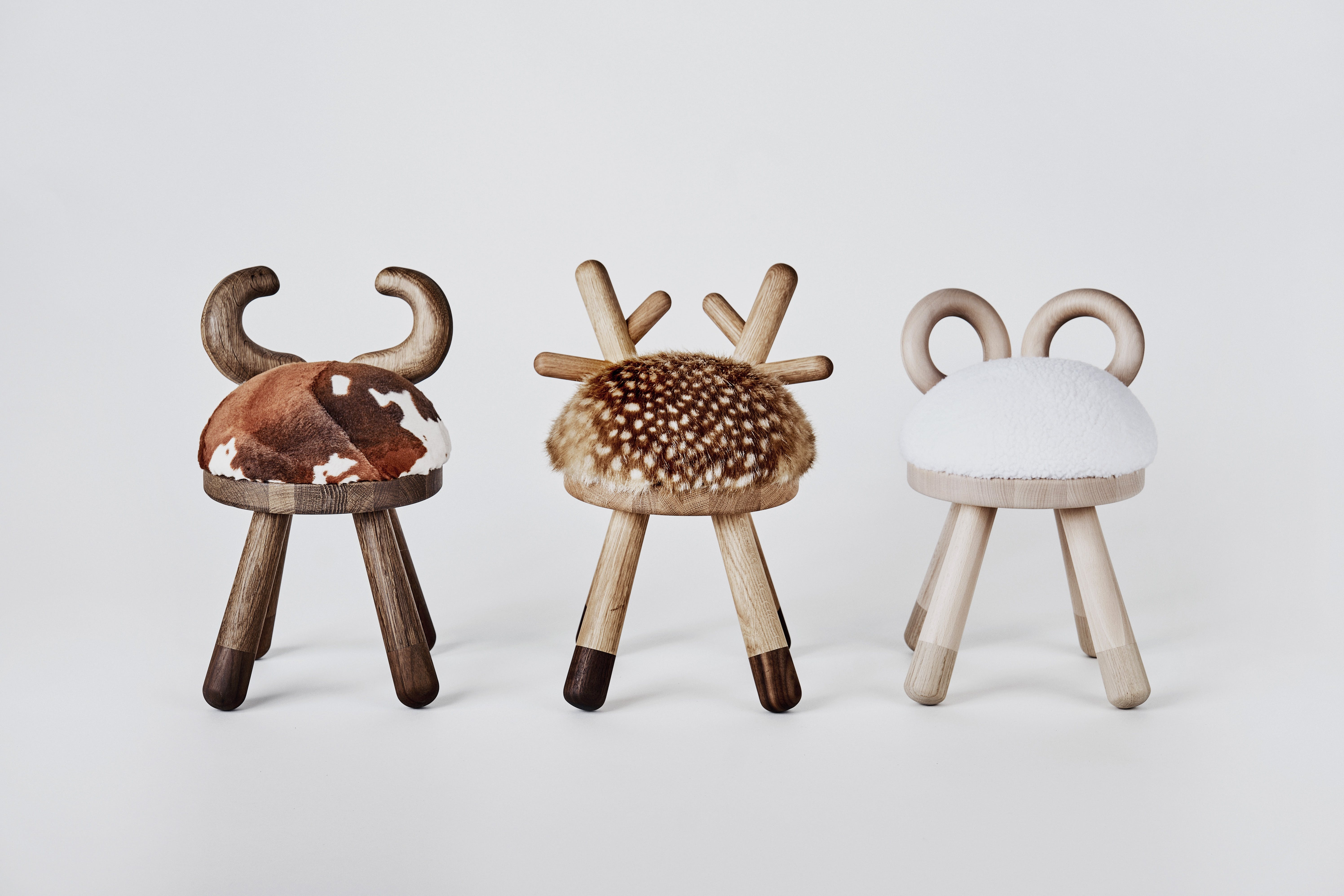 Bambi-chair, Cow-chair og Sheep-chair fra EO