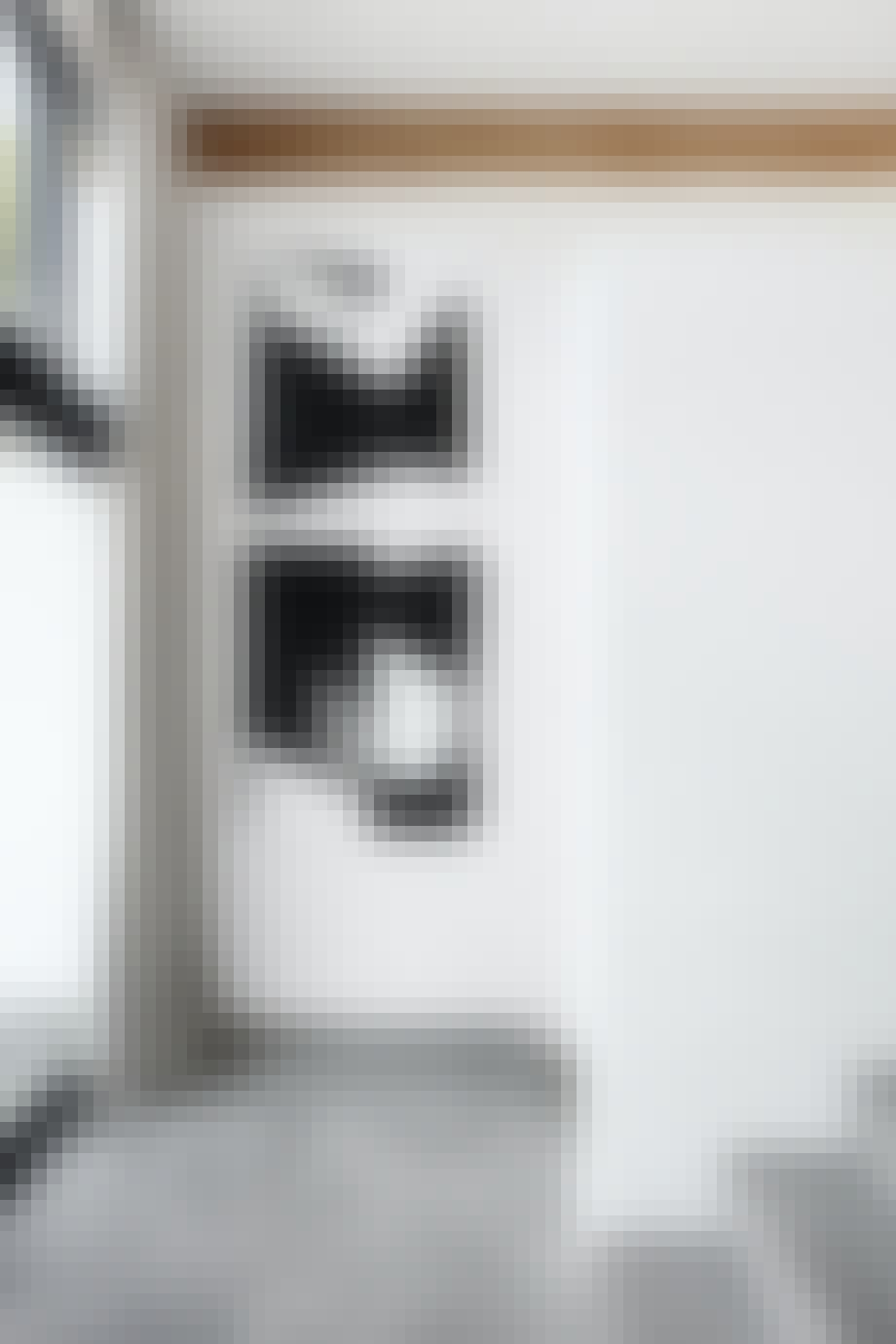 Entre grå keramiske fliser klinker kunstprint