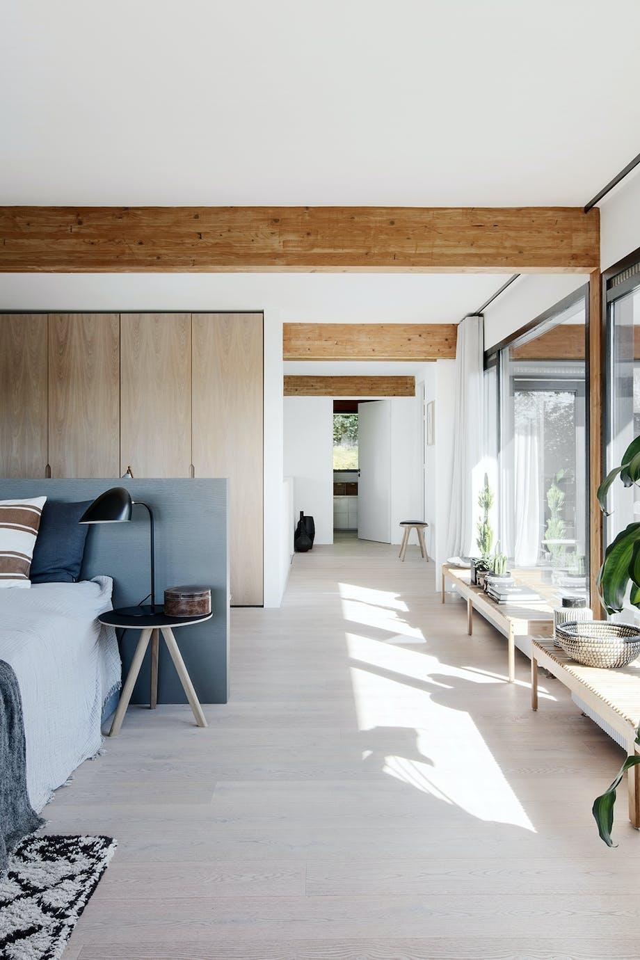 Soveværelse hjemmekontor med panoramisk udsigt