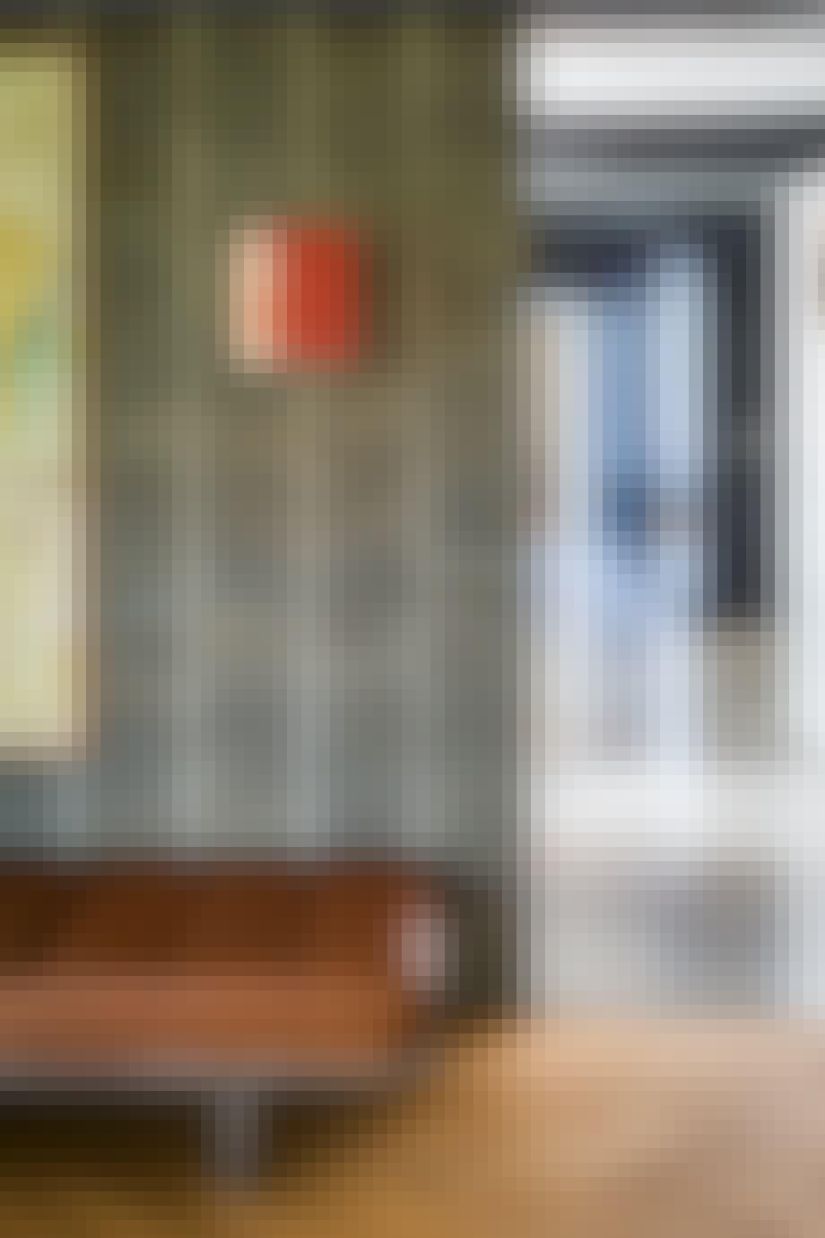 murstensvæg 60'er villa daybed maleri