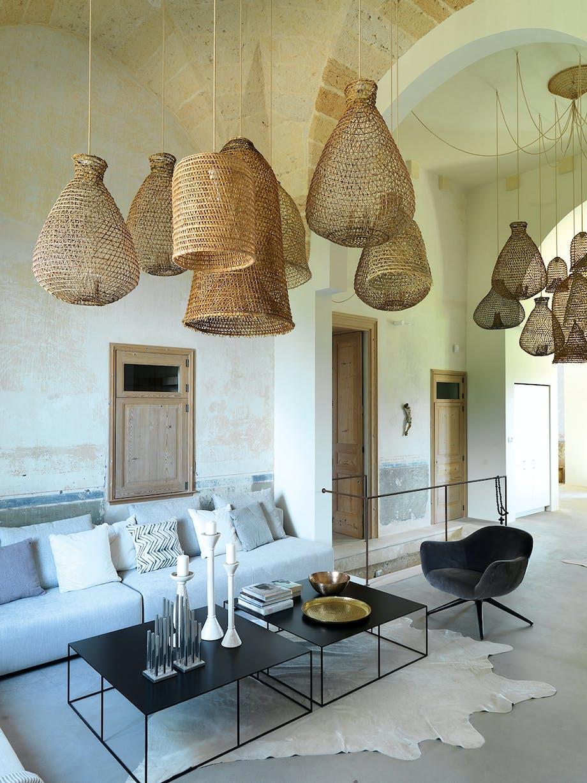 stue rolig atmosfære krabbe-fælder som loftslamper italien