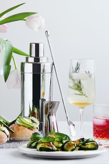 frisk og læskende drink med prosecco