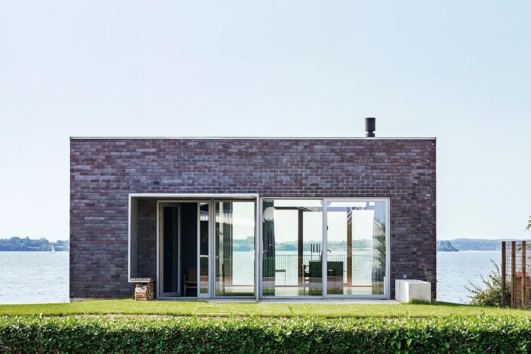 Facade arkitektegnet hus Flensborg Fjord