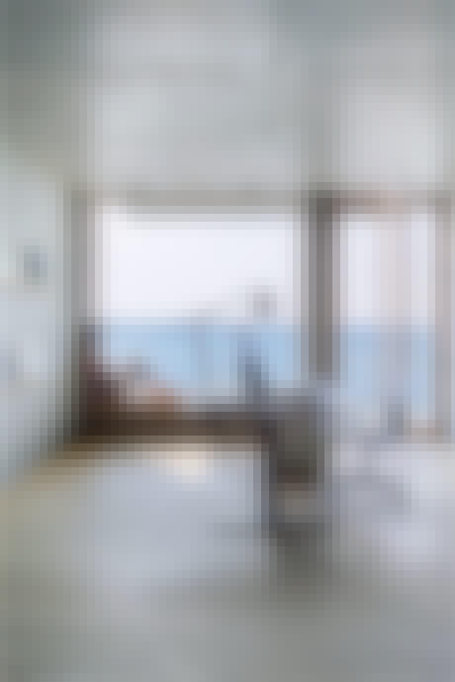Hjemmekontor arbejdsrum udsigt over Flensborg Fjord