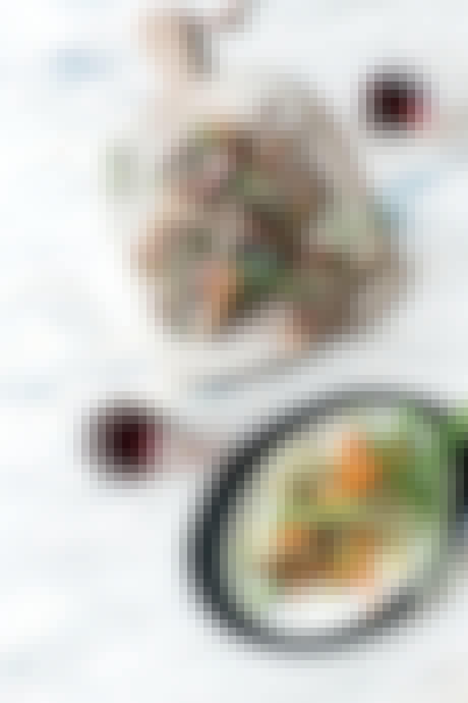 opskrift lammekoteletter med grillede grønt