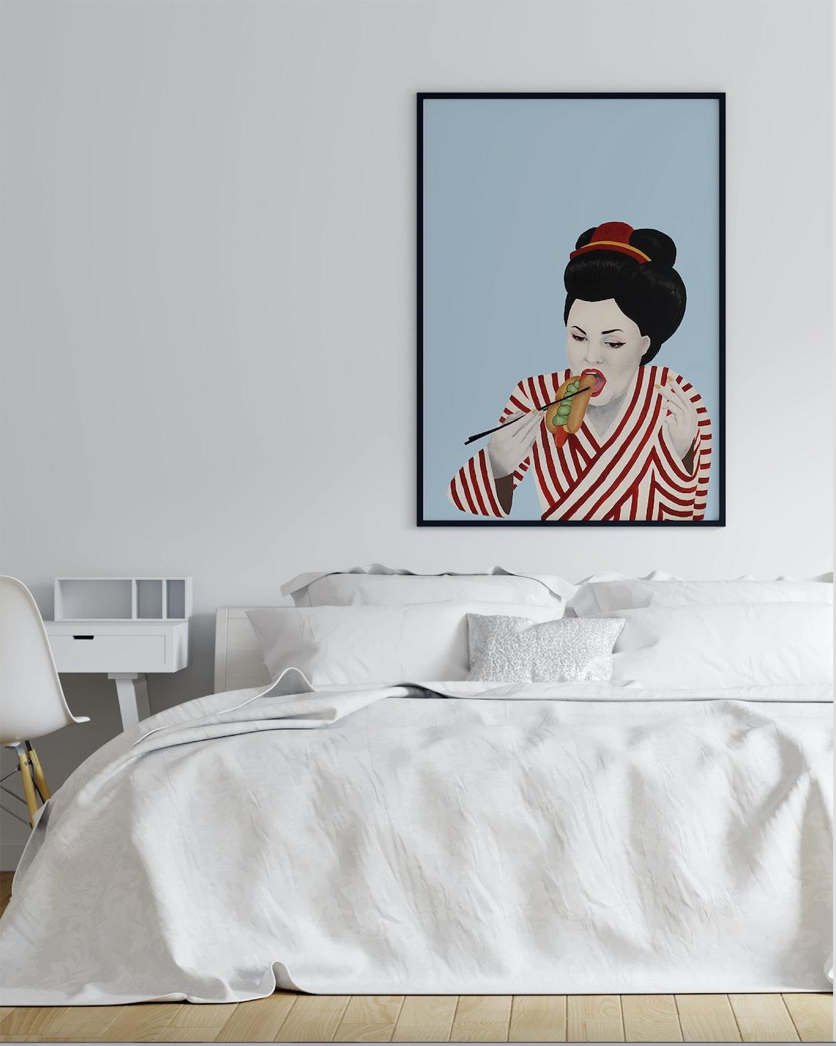 plakat japansk og skandinavisk kultur taisho soveværelse