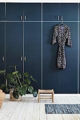Blå garderobe