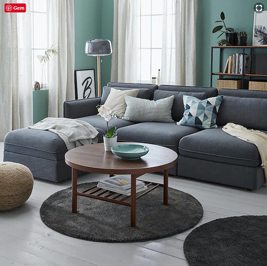 Rundt gulvtæppe fra IKEA