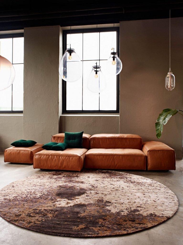 Copper Monn Massimo, rundt gulvtæppe