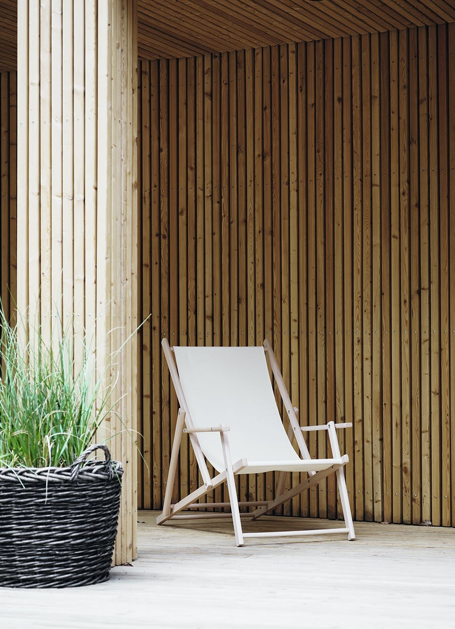 Solstol på terrassen