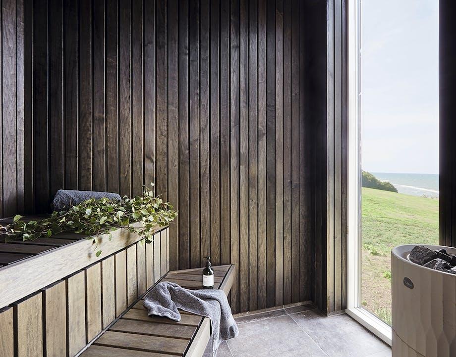 Sauna med udsigt udover havet