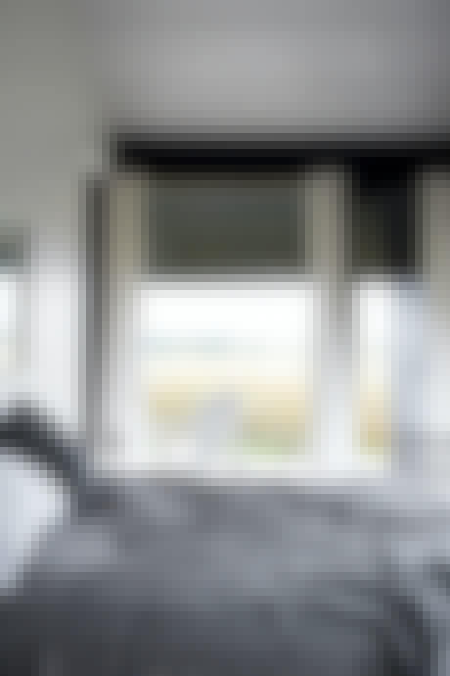 Soveværelse med udsigt udover mark