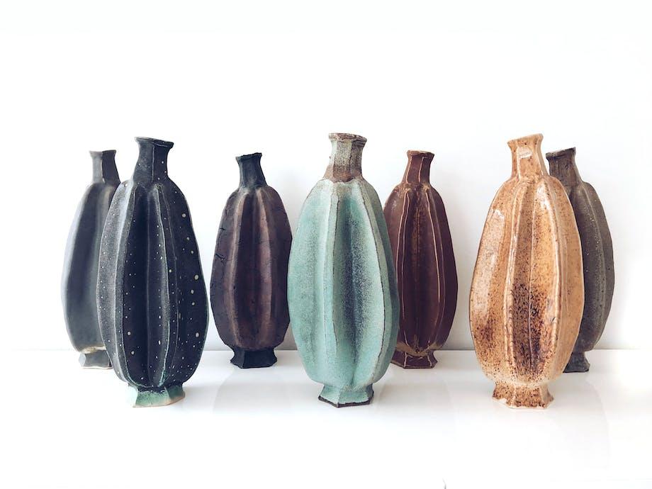 Keramikker Johanna Grahn Hollström har lavet disse vaser