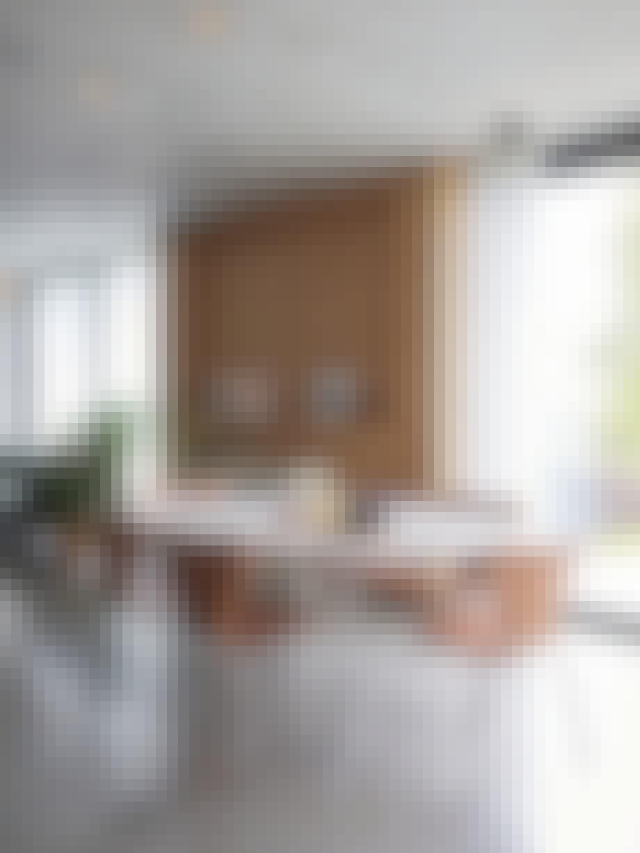 Spisestue, bord og stoler, Arne Jacobsen, rustikk, Piet Hein