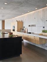 Kjøkken, benkeplater, betongkontruksjon, kjøkkenmodul